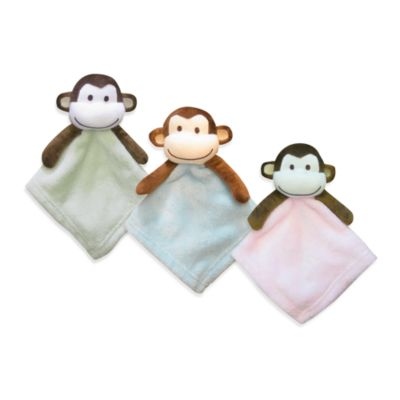 Pem America Monkey Coral Fleece Security Blanket