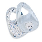Little Tots Bib 2-Pack in Blue Bear