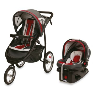 Graco® FastAction™ Fold Jogger Click Connect™ Travel System in Chili Red™