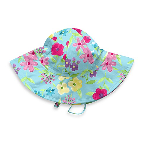 Blue Floral Sun Hat - Infant