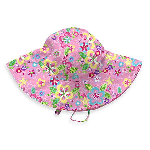 Pink Floral Brim Sun Hat - Infant
