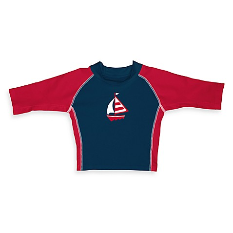i play.® Mod 3-Quarter Sleeve Sailboat Rashguard - 6 Months