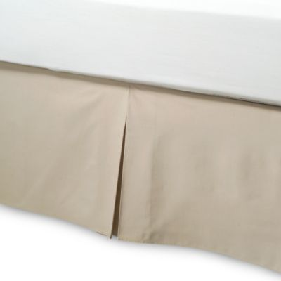 Smoothweave™ Queen Bed Skirt in Mocha