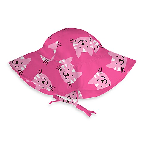 i play.® Pink Cats Brim Sun Hat - Toddler