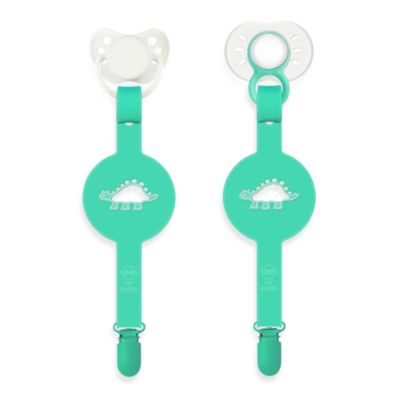 Paciplay Teethable Pacifier Holder in Green Dino