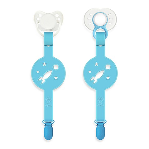 Paciplay Teethable Pacifier Holder in Blue Moon