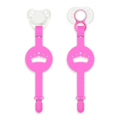 Paciplay Teethable Pacifier Holder in Pink Fairy