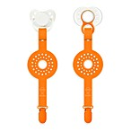Paciplay Teethable Pacifier Holder in Orange Dot