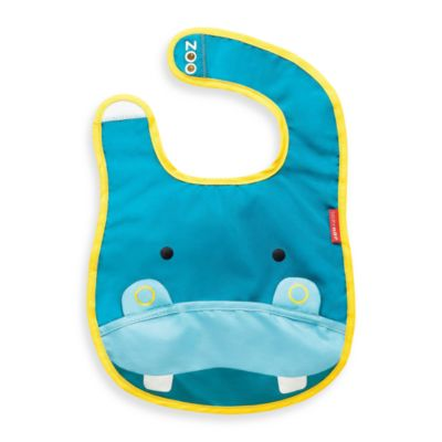 SKIP*HOP® Zoo Tuck-Away Bibs in Hippo