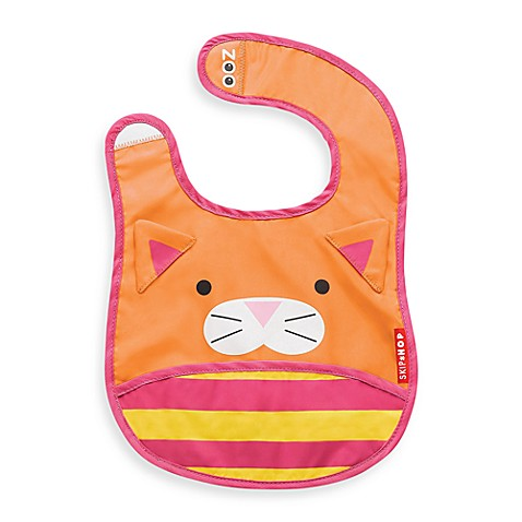 SKIP*HOP® Zoo Tuck-Away Bibs in Cat