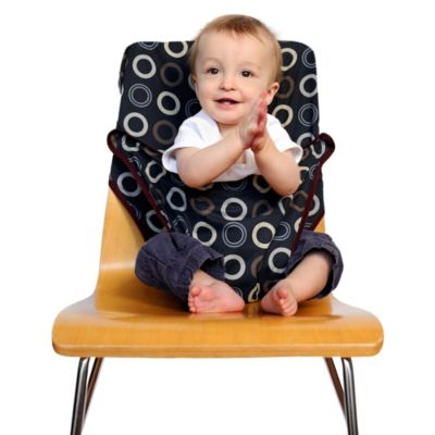 Totseat Portable High Chair in Black Circles