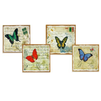 Butterfly Wall Art in Green