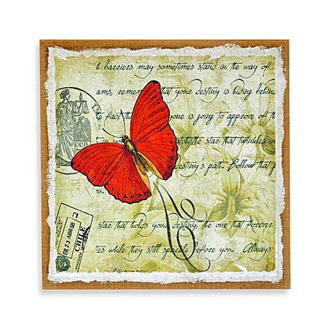 Butterfly Wall Art in Red