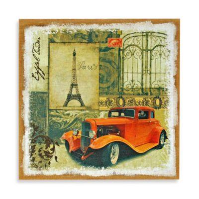 Studio Arts Red Auto Wall Art