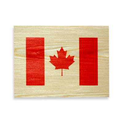 Canadian Flag Wood Veneer Wall Art
