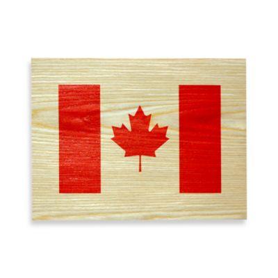 Canadian Flag Wood Veneer Wall Art
