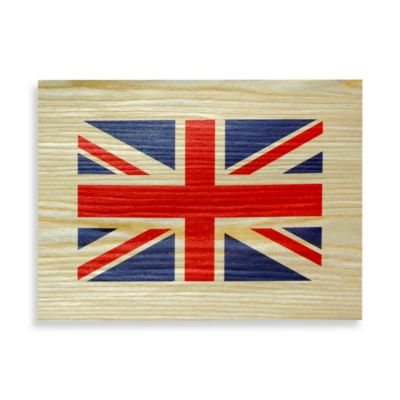 British Flag Wood Veneer Wall Art
