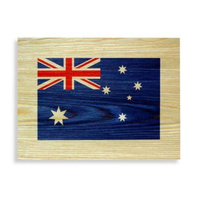 Australian Flag Wood Veneer Wall Art