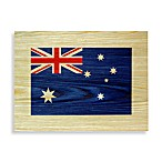 Australian Flag Wood Veneer Wall Art