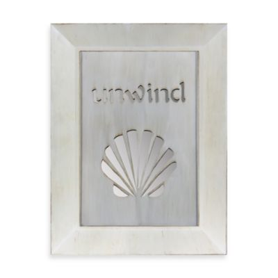 Unwind Seashell Mirror
