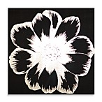 Silver Floral Fabric Wall Art