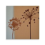 Floral Etch On Linen Wall Art