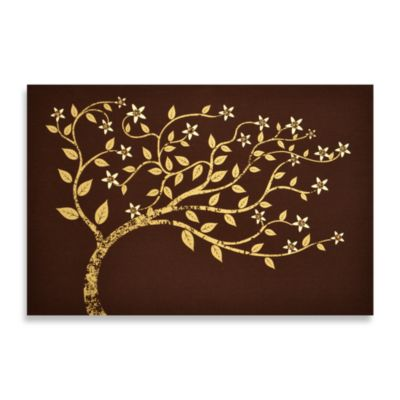 Beaded Tree On Linen Wall Art