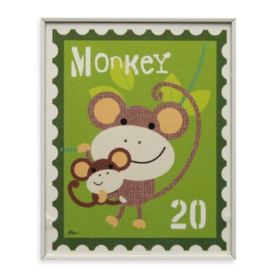 Monkey Stamp Wall Art