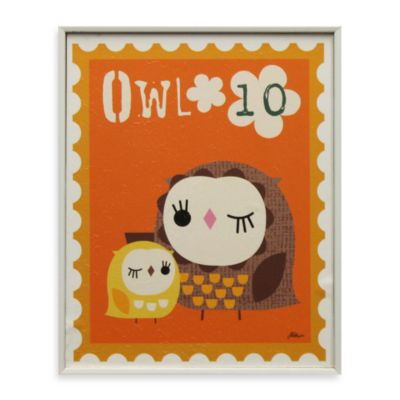 Owl Stamp Wall Art