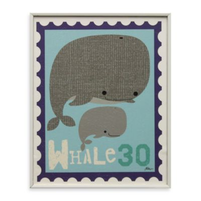 Whale Stamp Wall Art
