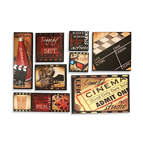 Lights, Camera, Action 8-Piece Wall Art