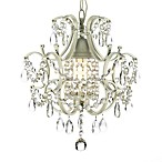 Wrought Iron & Crystal 1-Light Chandelier