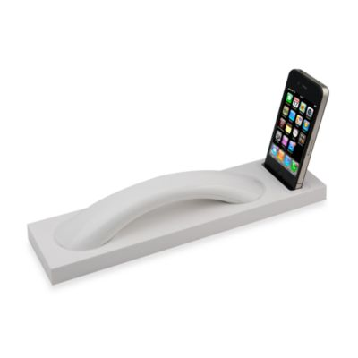 Curve Bluetooth Wireless Handset and iPhone® Dock in White