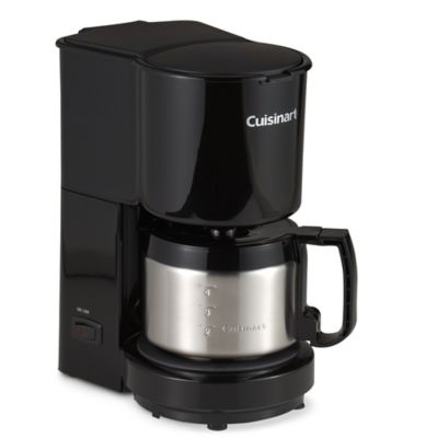 Cuisinart® 4-Cup Coffee Maker with Stainless Steel Carafe in Black