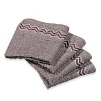 Revere Mills Bathsol Chevron Wash Cloths in Grey (Pack of 4)