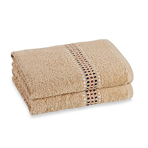 Revere Mills Bathsol Confetti Bath Towels in Driftwood (Pack of 2)