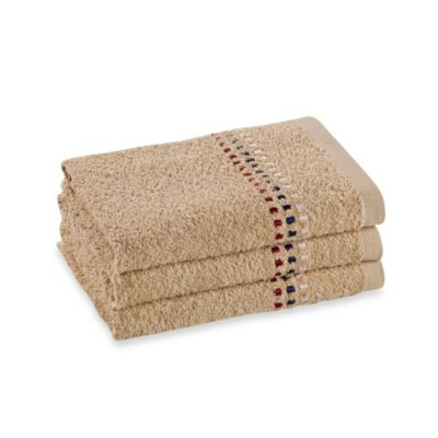 Revere Mills Bathsol Confetti Hand Towels in Driftwood (Pack of 3)