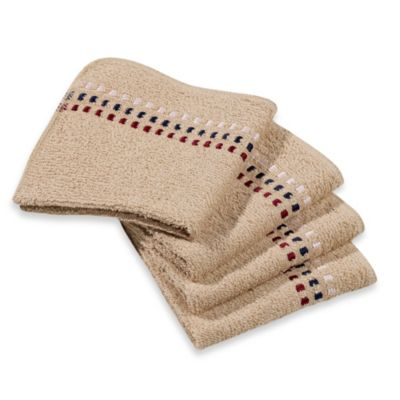 Revere Mills Bathsol Confetti Wash Cloths in Driftwood (Pack of 4)
