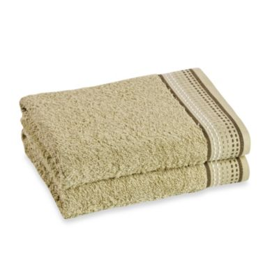 Revere Mills Bathsol Dashes Bath Towels in Green (Pack of 2)