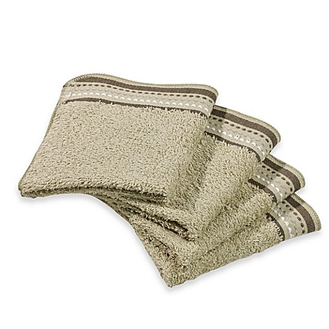 Revere Mills Bathsol Dashes Wash Cloths in Green (Pack of 4)