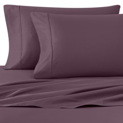 Wamsutta® 400 Thread Count Queen Sheet Set in Purple