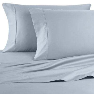Wamsutta® 400 Thread Count Standard Pillowcases in Sky (Set of 2)