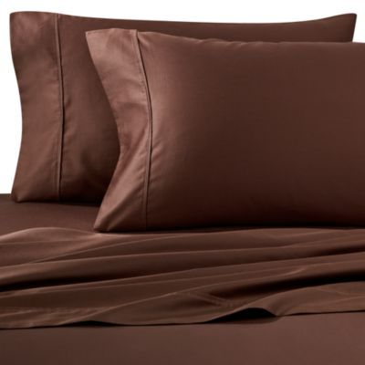 Wamsutta® 400 Thread Count Queen Sheet Set in Chocolate
