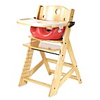 Keekaroo® Height Right High Chair Natural with Cherry Infant Insert and Tray