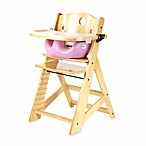 Keekaroo® Height Right High Chair Natural with Lilac Infant Insert and Tray