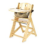 Keekaroo® Height Right High Chair Natural with Latte Infant Insert and Tray