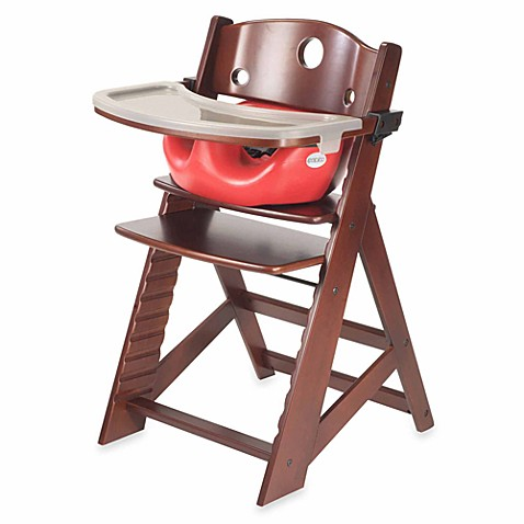 Keekaroo® Height Right High Chair Mahogany with Cherry Infant Insert and Tray