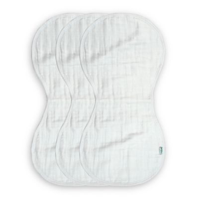 green sprouts® by i play.® Organic Muslin Size 0-12 Months Burp Cloth in White (3-Pack)