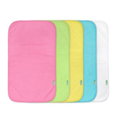 green sprouts® by i play.® 5-Pack Waterproof Absorbent Girls Terry Burp Pad