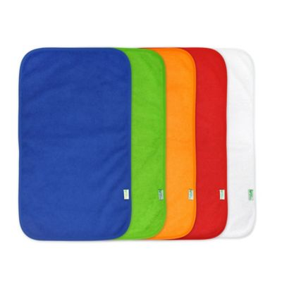 green sprouts™ by i play.® 5-Pack Waterproof Absorbent Boys Terry Burp Pad